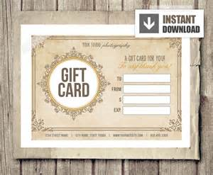 Vintage Gift Certificate Template by Gift Card Certificate Template For Photographers Vintage