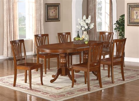 8 pc dining room set 9 pc newton oval dining room set table 8 wood seat chairs in saddle brown sku newton9 sbr