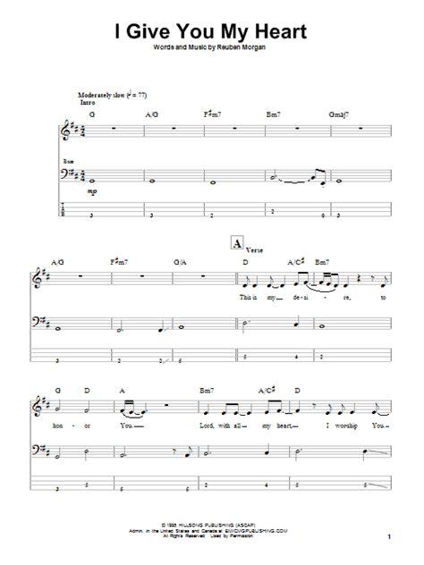 i give you my reuben lyrics i give you my by reuben bass tab guitar