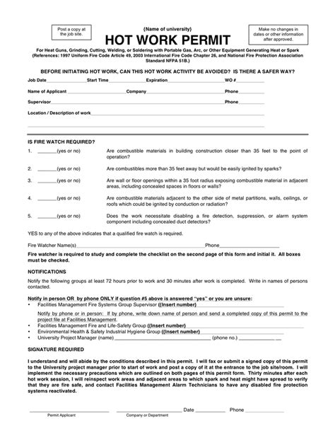 works permit template work permit template pictures to pin on