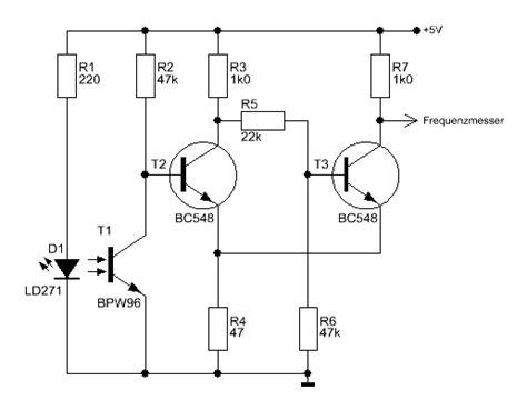 ir diode widerstand frequenzmessmodul