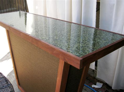 Outdoor Bar Tops by Build An Outdoor Bar With A Pebble Top Outdoor Spaces
