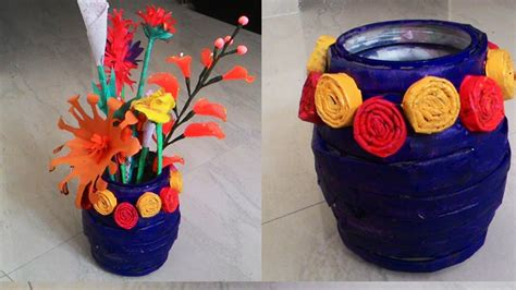 Crafts With Vases by How To Make Newspaper Flower Vase Newspaper Crafts