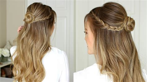 easy half up prom hairstyle sue
