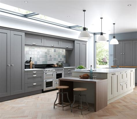 gray kitchen cabinets contemporary kitchen utah finsbury dust grey mussel kitchens direct ni