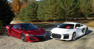 Acura Nfx Acura Nsx Vs Audi R8 We Compare Tech Versus Higher Tech
