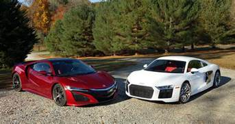 Bugatti Vs Audi R8 Acura Nsx Vs Audi R8 We Compare Tech Versus Higher Tech