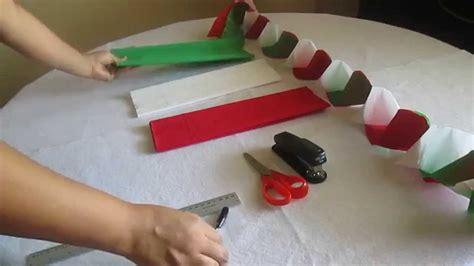 como hacer cadenas de corazones con papel crepe como hacer cadenas con papel crepe youtube