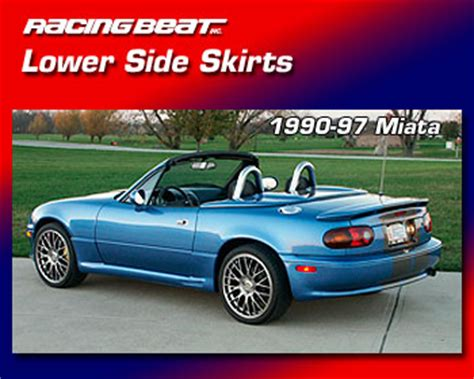 1990 mazda miata performance parts lower side skirts for 90 97 miata racing beat