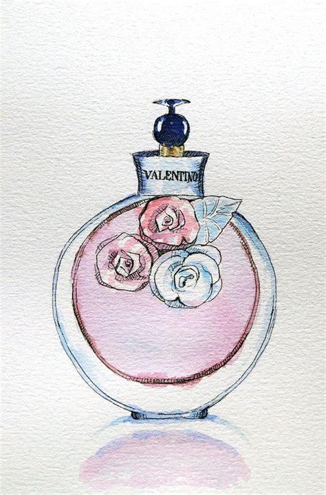 Parfum Original Valentina Valentino original valentino perfume watercolour illustration valentino valentina watercolour