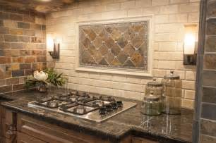 Rustic Kitchen Backsplash Tile by Modern Yet Rustic This Hearth Style Backsplash Features