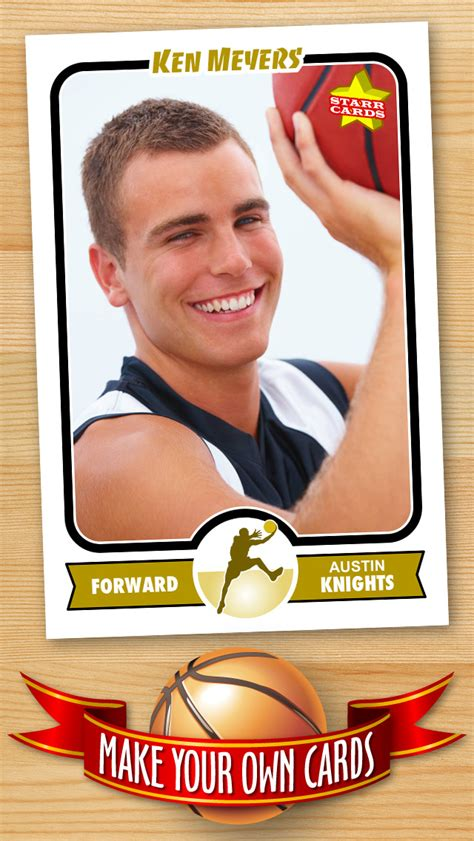 Basketball Trading Card Template Free by Free Basketball Card Template Create Personalized
