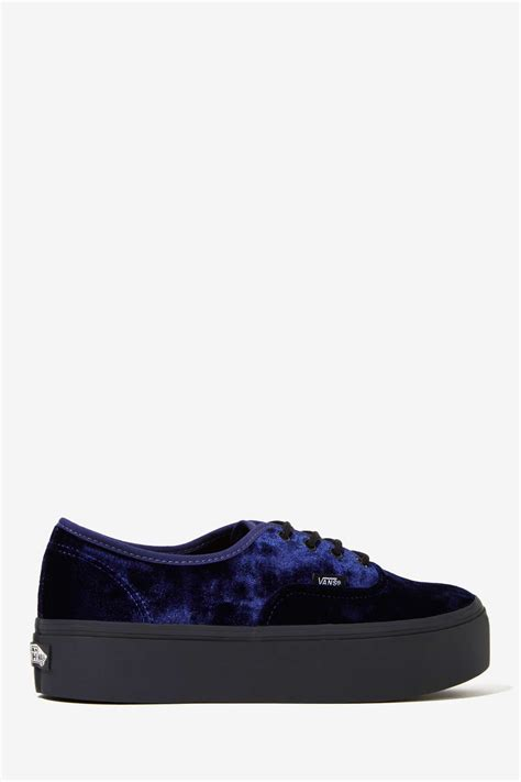 lyst gal vans authentic platform sneaker blue