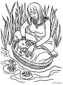 coloring sheet baby moses coloring page coloring home