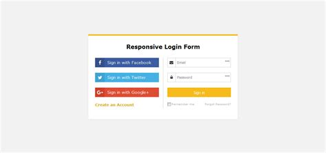 responsive login form template simple responsive login form template free dwonload