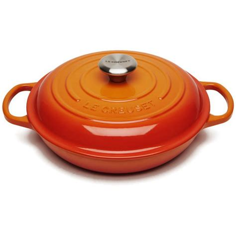 le creuset le creuset signature cast iron shallow casserole dish