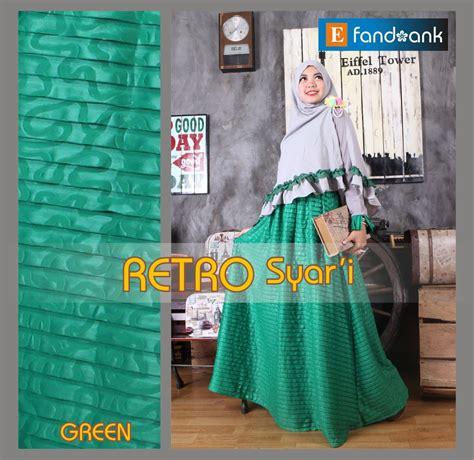 Baju Gamis Labibah Syari Green retro syar i green baju muslim gamis modern