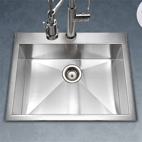 houzer kitchen sink houzer bellus zero radius topmount single bowl kitchen
