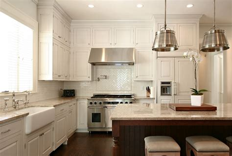 Kitchen With Backsplash Pictures Buying White Kitchen Cabinets For Your Cool Kitchen