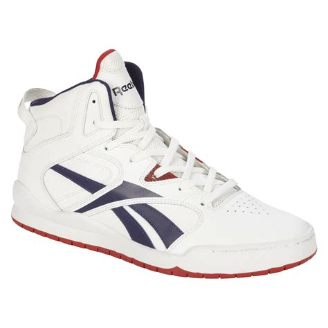 high school basketball shoes reebok s bb4700 mid white blue high top basketball shoes