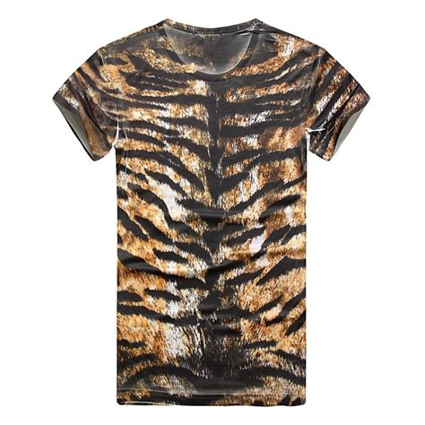 tiger print t shirt new 3d top fashion tiger t shirt topman print printed