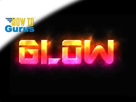 photoshop cs3 glow effect tutorial how to add glowing text effect glow style text adobe