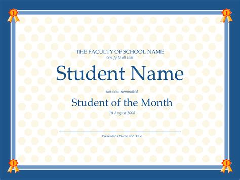 student of the month certificate templates free 6 best images of student council certificates printable