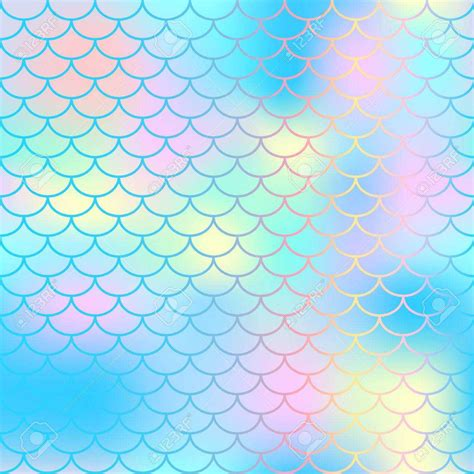 magic pattern background fish scale texture vector pattern magic mermaid tail