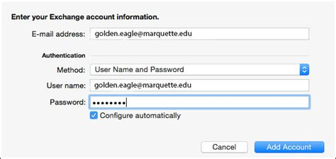 Marquette It Help Desk by Configure Mac Outlook For Emarq It Services Marquette