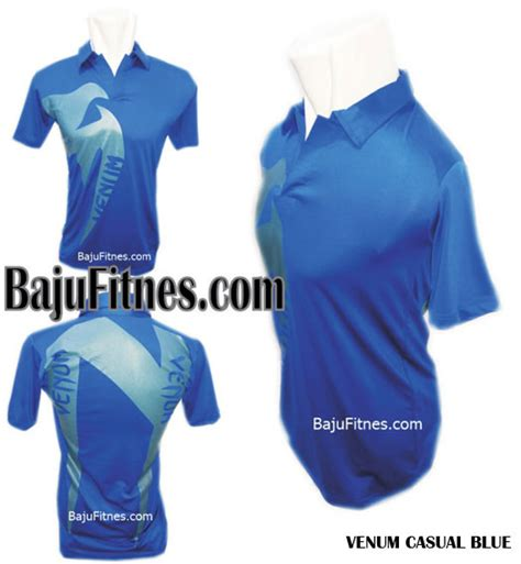 Baju Kaos Venum Blue 089506541896 tri merek kaos fitness fit baju olahraga