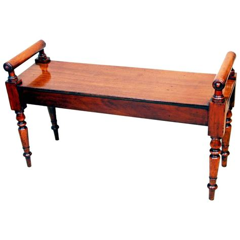 vintage hall bench antique mid 19th century mahogany hall bench at 1stdibs