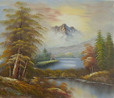 Handmade Nature Paintings - wall painting 100 handmade scenery