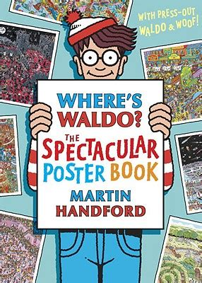 where s waldo 2018 wall calendar ca0171 where s waldo the spectacular poster book with punch out