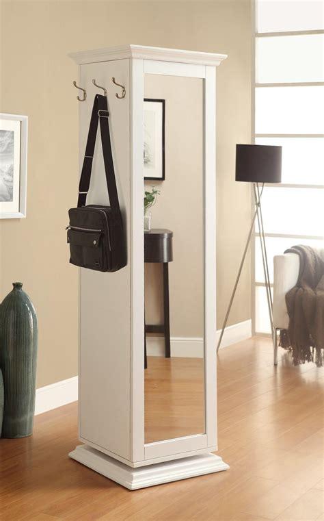 Coaster white hall tree swivel mirror storage pin up board dallas tx home furniture