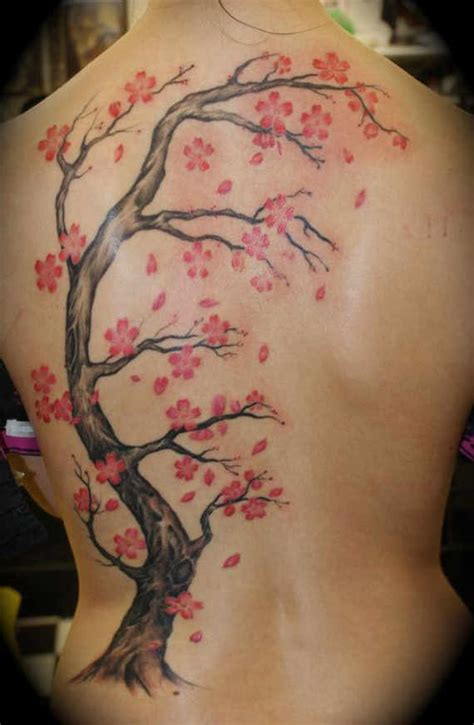 33 Pretty Cherry Blossom Tattoos And Designs Blossom Tree Back