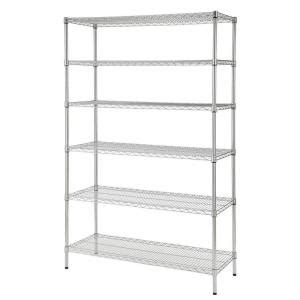 Hdx 48 In W X 72 In H X 18 In D Decorative Wire Chrome Home Depot Heavy Duty Shelving