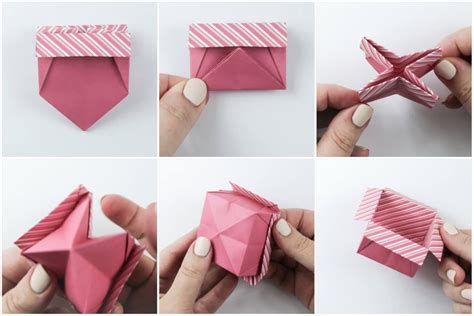 origami open box origami open box with flaps tutorial