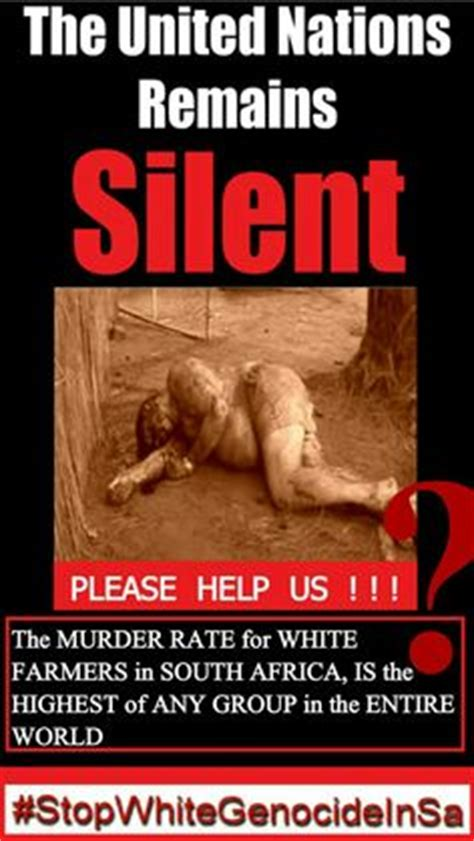 white genocide in south africa here are the names south africa s white genocide why is the world silent