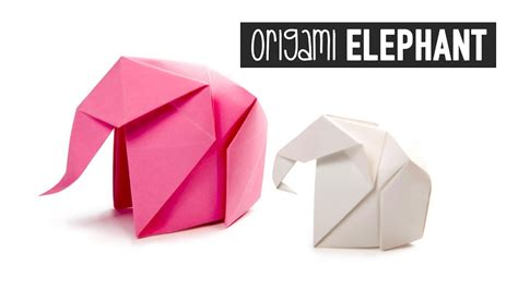 Origami Elephant Pdf - origami elephant tutorial paper kawaii my crafts and