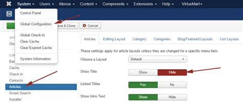 tutorial joomla 3 4 8 how to hide article title in joomla as blog