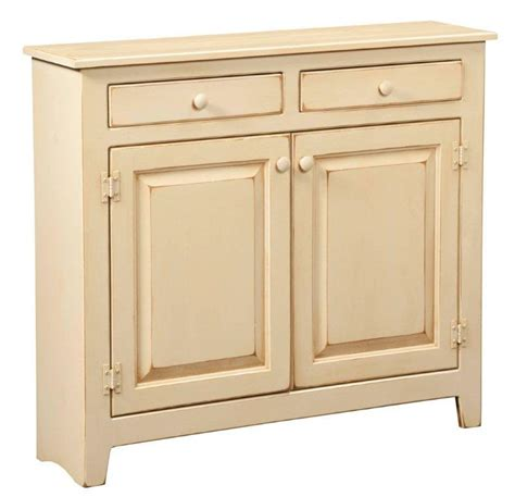Antiquing White Kitchen Cabinets by Amish Large Pine Console Cabinet