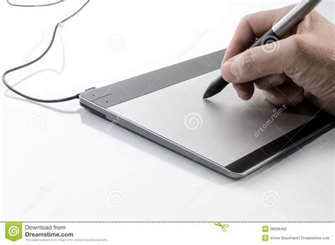 Pen Mouse Pad writing on a touch pad stock photo image 38936492