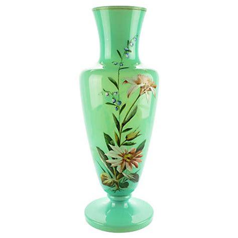 Antique Bristol Blue Glass Vase Bristol Glass Blown Vase Pair 19th C Hacienda