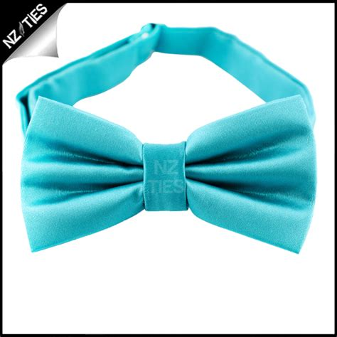 turquoise aqua plain bow tie nz ties
