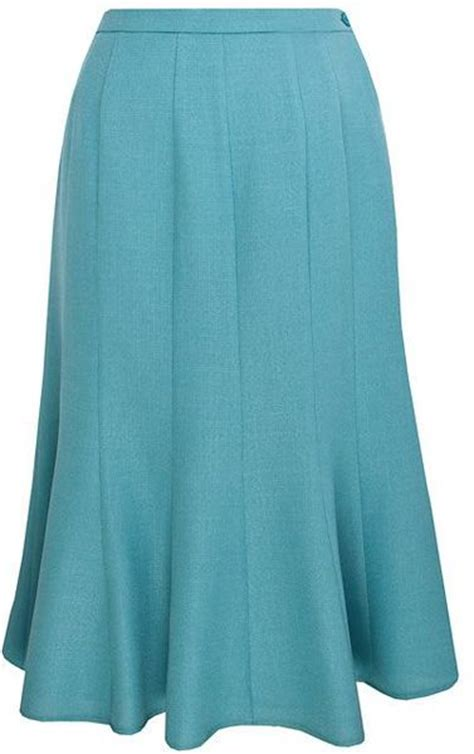 eastex fit flare light teal skirt in blue teal lyst