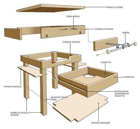 tavolo lavoro fai da te come si costruisce un tavolo da lavoro in legno 12