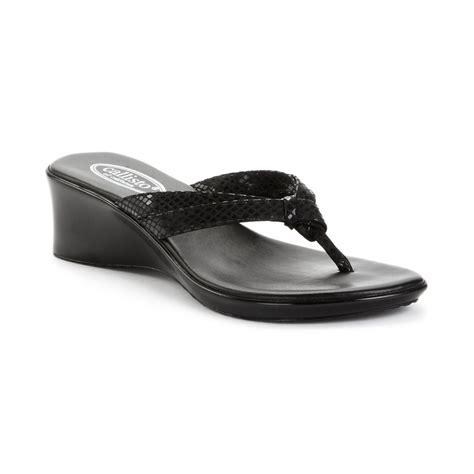 callisto shoes callisto blair wedge sandals in black black python lyst