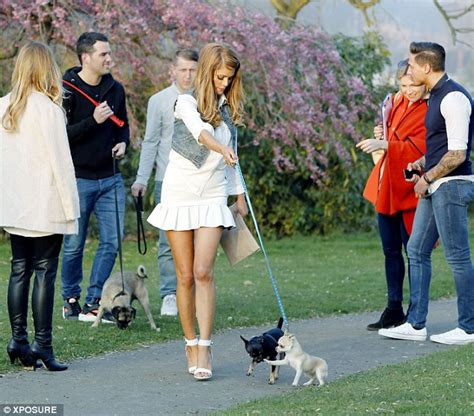 step dogs cast the towie cast take their pooches for a glamorous walk in the park as they enjoy a