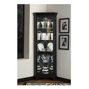 China Curio Cabinet New Black Corner Curio Cabinet Tall Display Case Glass