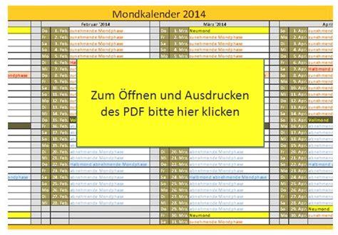 mondkalender mit sternzeichen 2014 5538 mondkalender 2014 mondphasen 2014 lebe das leben
